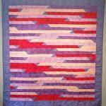 Beth Riley_Dix, IL_Jelly Roll Jamboree with Connecting Squares_2016_quilted by Linda Clevenger