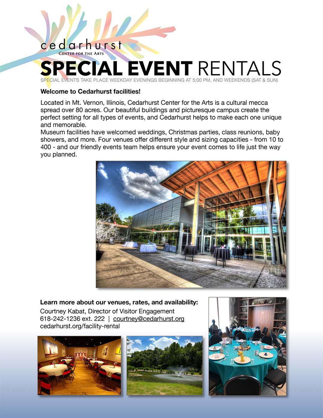 Special Event Rentals at Cedarhurst